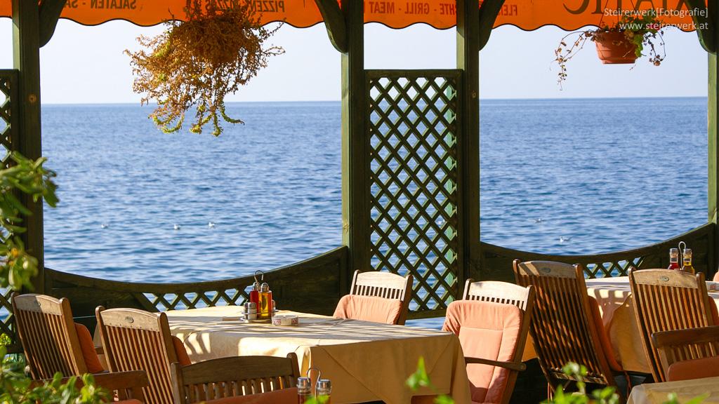 Slowenisch Essen am Meer